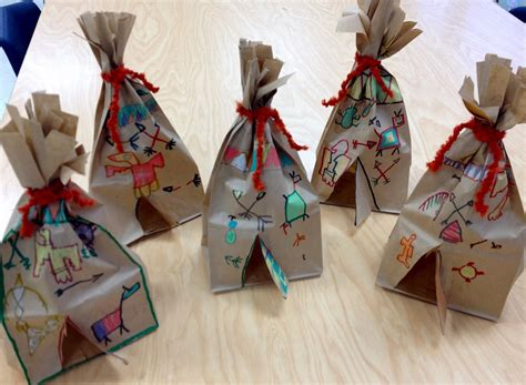 paper bag arts and crafts for with mr giannetto 1st grade tepees