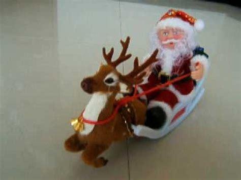christmas santa reindeer sleigh moving youtube