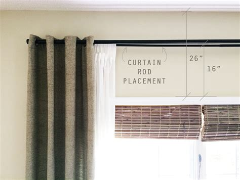 Curtain Rod Placement Images Curtain Ideas