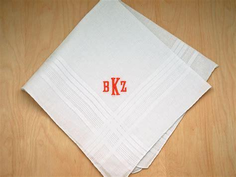 Wedding Font Initials by Mens Monogrammed Wedding Hankie W 3 Initials Font E