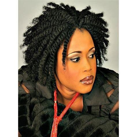kink twist using grey hair grey crochet kinky twist short hairstyle 2013
