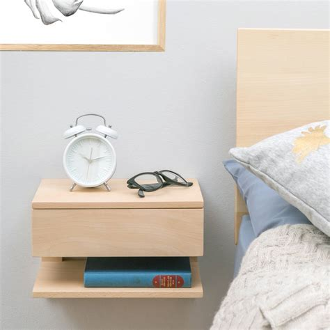 bedside shelf floating bedside table with drawer and shelf by urbansize
