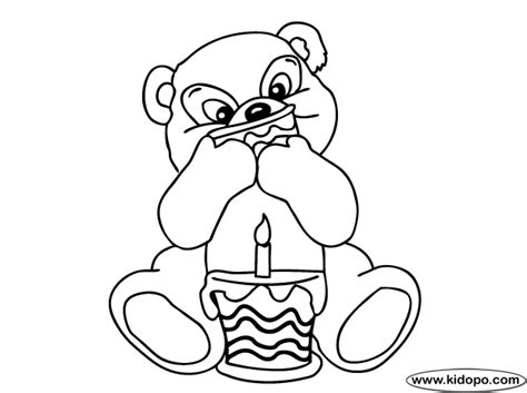 birthday bear coloring pages free coloring pages of birthday bear