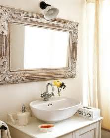 wood framed bathroom mirror ideas above white sink and vanity mirrors home decorating