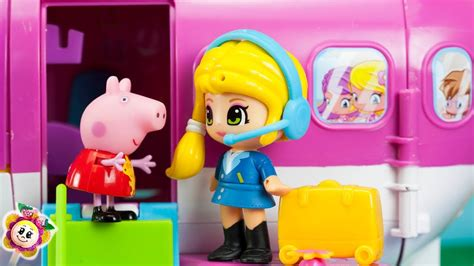 peppa pig de vacaciones 8437281199 peppa pig vacaciones de navidad en el avi 243 n pinypon prepara maletas juguetes beb 233 s y