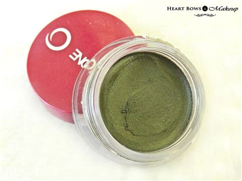 Eyeshadow The One Oriflame oriflame the one colour impact eyeshadow olive green review swatches bows makeup