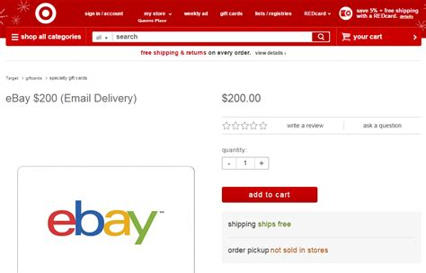Ebay Gift Card Policy - target ways to save money when shopping