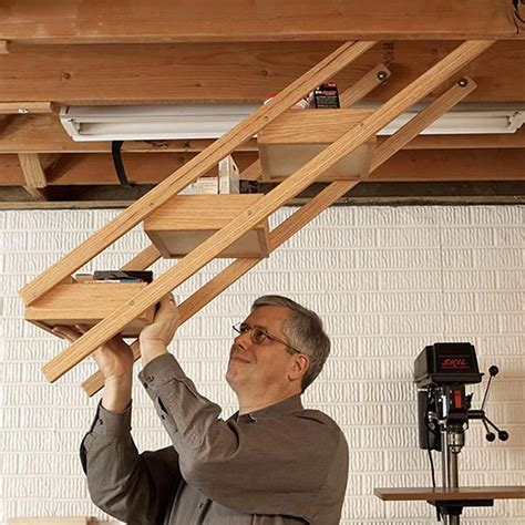 swing shop overhead swing shop storage woodworking plan from