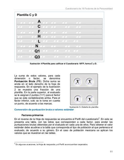 hoja de respuestas del cuestionario 16 fp instructivo nfs
