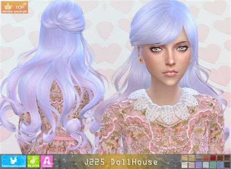 doll house hair sims 4 hairs newsea j225 dollhouse hair