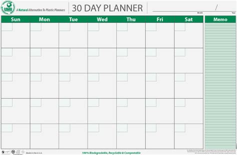 Day By Day Calendar Planetsafe Planners Sustainable Organizing Milwaukee Wi