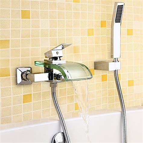 contemporary wall mounted waterfall chrome finish curve jinyuze modern brass wall mounted bath tub filler faucet