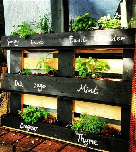 Vertical Herb Garden Pallet Diy Furniture Projects Made Of Whole Pallets