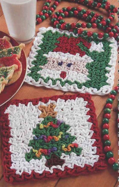 christmas tree hot pad pattern crochet pot holders crochet kingdom 7 free crochet