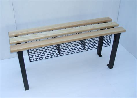 shoe changing bench changing room bench plus mesh basket cloakroom storage