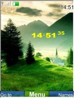 nature clock themes mobile9 download nature clock nokia theme mobile toones