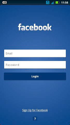 facebook login layout android aprenda a instalar o facebook no android gr 225 tis encontra