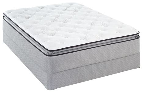 pillow top queen bed sealy presnell euro pillow top plush queen mattress sears