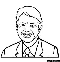 drawing jimmy carter coloring page free online sketch template