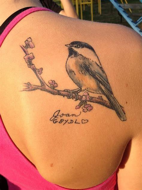 chickadee tattoo designs chickadee for my three birds