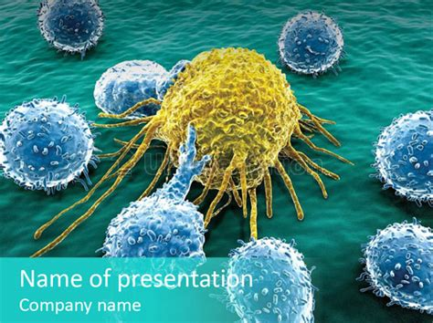 Cancer Cell Immune System Cancer Powerpoint Template Id 0000075283 Upresentation Com Cancer Powerpoint Templates Free