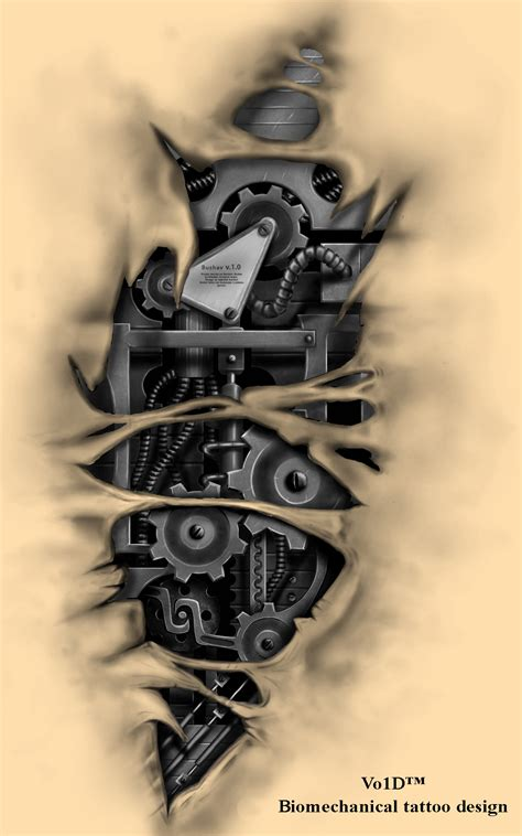biomechanical tattoo design biomechanical design by vo1d danman on deviantart