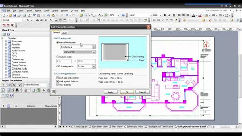 visio dwg d tools si5 5 inserting an autocad file into visio
