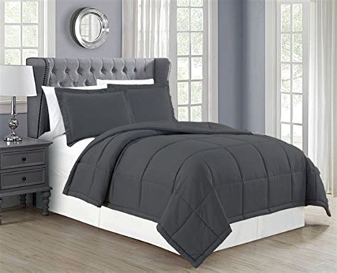 dark grey down comforter mk collection down alternative comforter set 3pc full