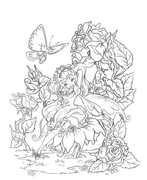 beautiful coloring pages for adults fairy pictures to