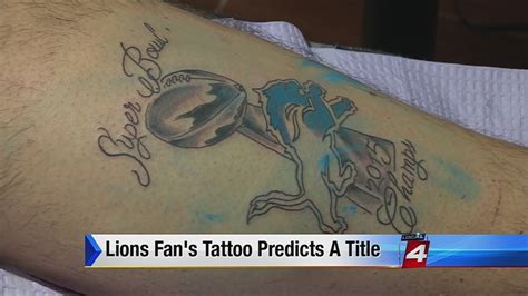 detroit lions tattoo detroit lions fan gets bold bowl chs