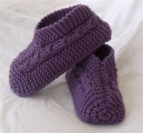 knitting pattern simple slippers easy to knit bow slippers knitting and crochet patterns