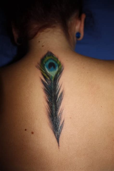 peacock feather tattoo peacock feather on s back