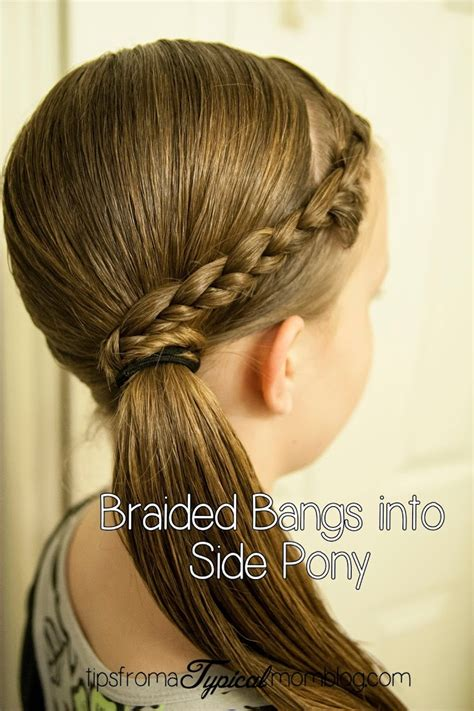 cute ideas to to your hair with a wand tween hair do s braided bangs into a side pony tail