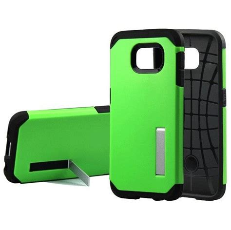 Casing Kickstand Samsung Galaxy S6 Edge Sgp Oem Thougharmor Kick Sta sgp slim armor tpu combination with kickstand for samsung galaxy s6 oem green