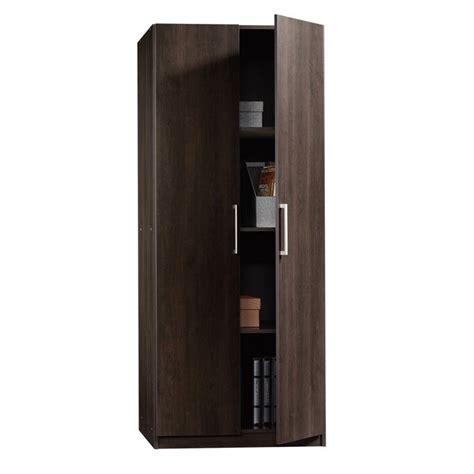 sauder beginnings storage cabinet in cinnamon cherry 414275
