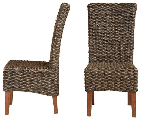 outdoor wicker parson chairs modus furniture meadow wicker dining parson chair in brick