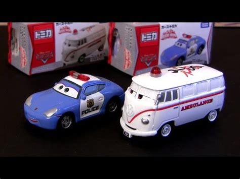 Tomica Disney Pixar Cars Rescue Gogo Ruigi Engine Type tomica cars sally car fillmore ambulance rescue go go from takara tomy disney pixar