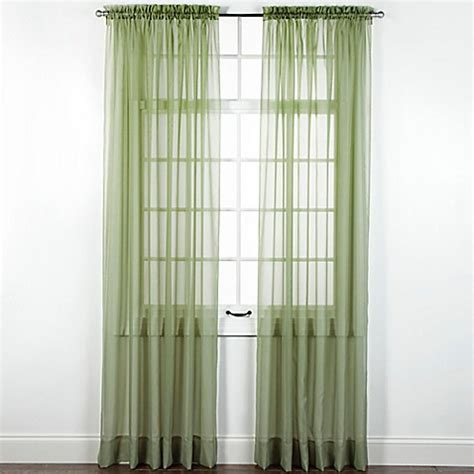 sheer elegance curtains elegance sheer rod pocket window curtain panel www