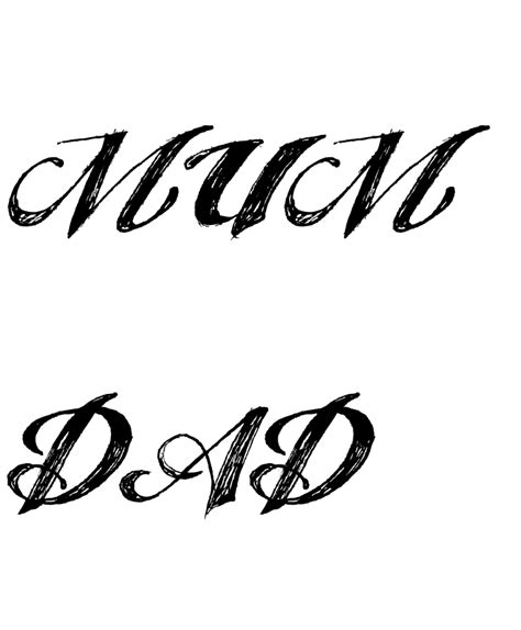 mom tattoo font mom dad pics cliparts co