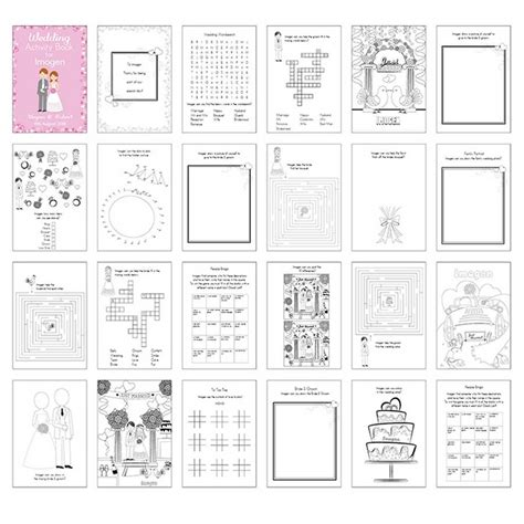 personalised kids wedding activity book by personalised at