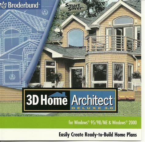 Home Design Deluxe 3d by 3d Home Architect Deluxe 3 0 Cd By Broderbund Other