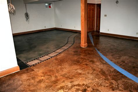 ideas for concrete basement floors home design inspirations