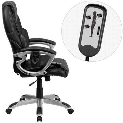 contemporary high back office chair with massage bt