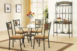 earth tone dining table set with glass top