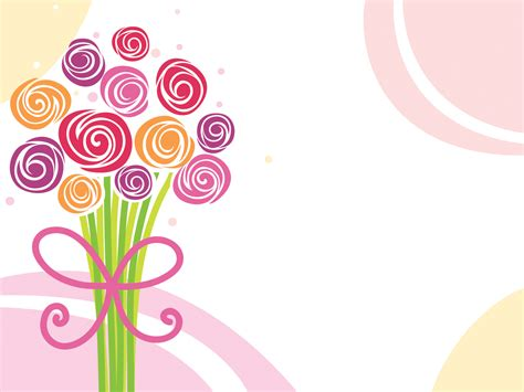 flower powerpoint template flower bouquet powerpoint templates fashion