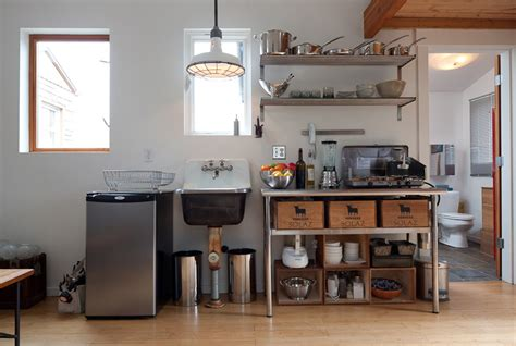 Garage Kitchen by Converted Garage Tiny House Tiny House Swoon
