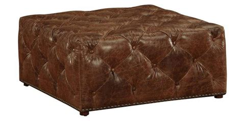 40 Inch Square Ottoman porter quot ready to ship quot 40 inch square leather tufted ottoman ottomans benches