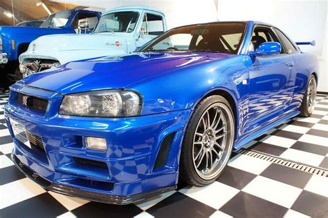 blue nissan skyline fast and furious nissan cars news paul walker s skyline gt r for sale 1m