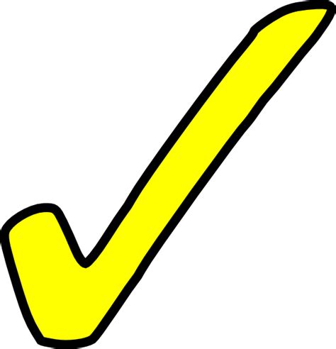 bright yellow tick clip art at clker com vector clip art