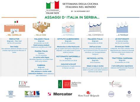 cucina ita in vista della seconda settimana della cucina italiana in